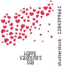 happy valentines day typography ... | Shutterstock .eps vector #1284399661