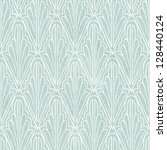 Stock photo seamless vintage wallpaper pattern on paper texture stencil background 128440124