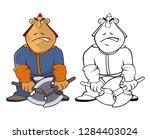vector illustration of a... | Shutterstock .eps vector #1284403024