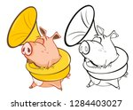 vector illustration of a cute... | Shutterstock .eps vector #1284403027