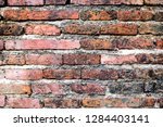 the texture of the old brick ... | Shutterstock . vector #1284403141
