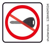 no key icon turn off engine... | Shutterstock .eps vector #1284409534
