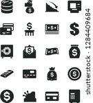 solid black vector icon set  ... | Shutterstock .eps vector #1284409684