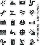 solid black vector icon set  ... | Shutterstock .eps vector #1284409894
