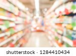 abstract blurred of shelves in...   Shutterstock . vector #1284410434