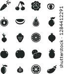 solid black vector icon set  ... | Shutterstock .eps vector #1284412291