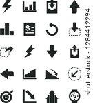 solid black vector icon set  ... | Shutterstock .eps vector #1284412294