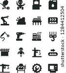 solid black vector icon set  ... | Shutterstock .eps vector #1284412504