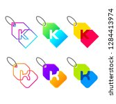 letter k logotype colorful with ... | Shutterstock .eps vector #1284413974