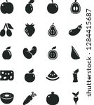 solid black vector icon set  ... | Shutterstock .eps vector #1284415687