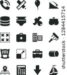 solid black vector icon set  ... | Shutterstock .eps vector #1284415714