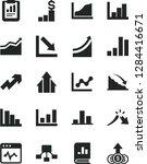 solid black vector icon set  ... | Shutterstock .eps vector #1284416671