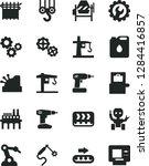 solid black vector icon set  ... | Shutterstock .eps vector #1284416857