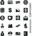 solid black vector icon set  ... | Shutterstock .eps vector #1284416884