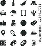 solid black vector icon set  ... | Shutterstock .eps vector #1284417781