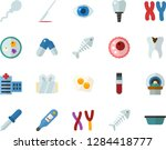 color flat icon set   fish... | Shutterstock .eps vector #1284418777