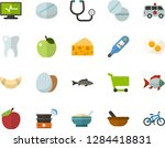 color flat icon set   apple... | Shutterstock .eps vector #1284418831