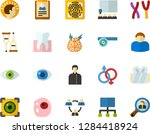 color flat icon set   holy... | Shutterstock .eps vector #1284418924