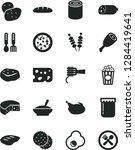 solid black vector icon set  ... | Shutterstock .eps vector #1284419641