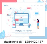 start your own website. web... | Shutterstock .eps vector #1284422437
