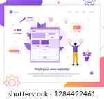 web banner design template for... | Shutterstock .eps vector #1284422461