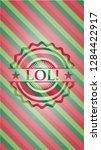 lol  christmas emblem...   Shutterstock .eps vector #1284422917