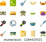 color flat icon set   cheese... | Shutterstock .eps vector #1284425521