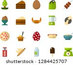 color flat icon set   easter... | Shutterstock .eps vector #1284425707