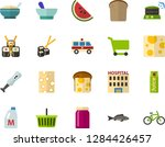 color flat icon set   bread and ... | Shutterstock .eps vector #1284426457