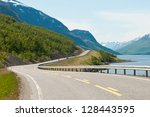 Norwegian Country Road In The...