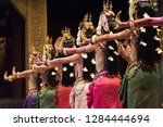 Small photo of Beautiful hands of Apsara Khmer dance depicting the Ramayana epic showing in Siem Reap, Cambodia.