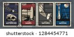 space mission postage stamps...   Shutterstock .eps vector #1284454771