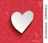 illustration of white paper... | Shutterstock .eps vector #128445611