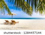 maldives islands with blue sea... | Shutterstock . vector #1284457144