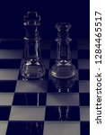 king and queen glass chess... | Shutterstock . vector #1284465517