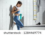 Conceptual inspirational fitness, exercise and weight loss, woman with toned body and flat stomach