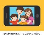 happy family selfie photo on... | Shutterstock .eps vector #1284487597