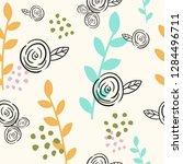 flower spring seamless pattern... | Shutterstock .eps vector #1284496711