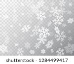 snow flakes falling macro... | Shutterstock .eps vector #1284499417