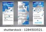 roll up banner blue geometric...   Shutterstock .eps vector #1284503521