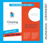 map  company brochure template. ... | Shutterstock .eps vector #1284506587