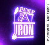 pump some iron. gym and fitness ... | Shutterstock . vector #1284510547