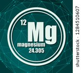magnesium chemical element.... | Shutterstock .eps vector #1284510607