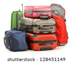 luggage consisting of large... | Shutterstock . vector #128451149