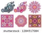 set of original hand draw line... | Shutterstock .eps vector #1284517084