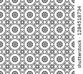 seamless monochrome interlaced...   Shutterstock .eps vector #1284518734
