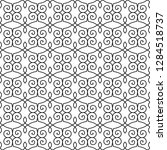 seamless monochrome interlaced...   Shutterstock .eps vector #1284518737
