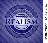 realism badge with denim... | Shutterstock .eps vector #1284519667