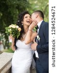 woman and man smile on wedding...   Shutterstock . vector #1284524671