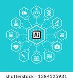 ai artificial intelligence... | Shutterstock .eps vector #1284525931
